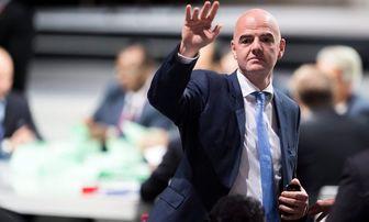 واکنش جالب رئیس فیفا به احتمال حذف اسپانیا از جام جهانی