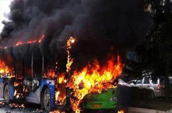 عامل تشدید حریق اتوبوس در ایران