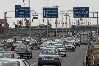 ترافیک در آزادراه تهران- کرج نیمه سنگین است