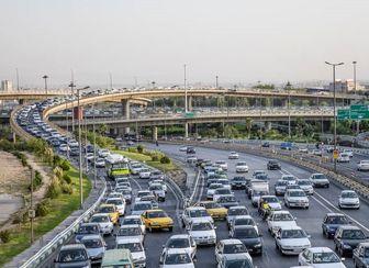 وضعیت ترافیکی معابر اصلی و بزرگراهی شهر تهران در ۳۱ اردیبهشت ماه