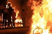 منزل استاندار «ذیقار»در جریان اعتراضات عراق به آتش کشیده شد