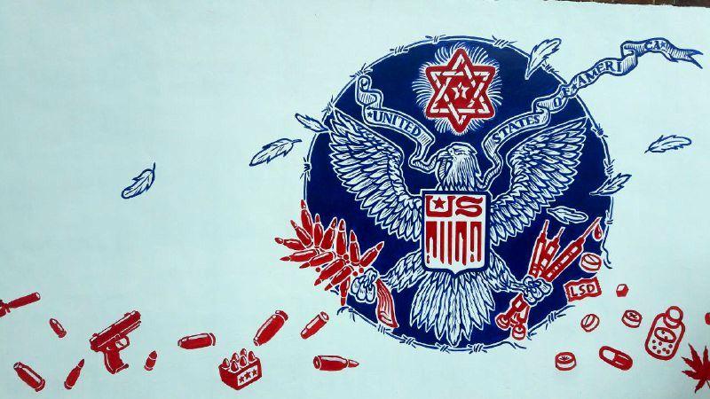 دیوارنگارههای لانه جاسوسی سابق آمریکا رونمایی شد