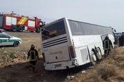 انحراف اتوبوس در محور گرگان ۴ مصدوم برجای گذاشت