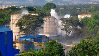 نشست گاز سمی در کارخانه مواد شیمیایی «ال جی پلیمر»