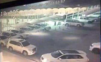 فیلم لحظه ورود خودروی بمبگذاری شده به هتل بابل