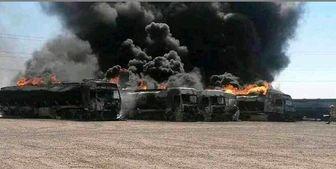 حریق 500 تانکر سوخت در حادثه امروز اسلام قلعه