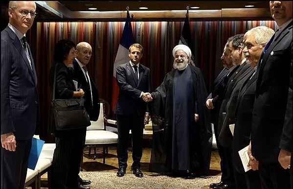 Image result for در حاشیه اجلاس مجمع عمومی سازمان ملل؛ رئیسجمهور و مکرون بر تحکیم مناسبات دوجانبه تاکیدکردند