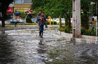 آب گرفتگی،وزش باد شدید و آبگرفتگی معابر در برخی مناطق کشور