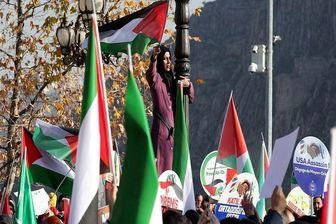 مردم سوئیس به حمایت از فلسطینی ها پرداختند