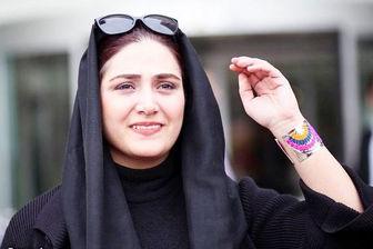 تیپ خاص خانم بازیگر ممنوع التصویر در جشنواره فجر/عکس