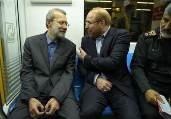 افتتاح خط 8 مترو با حضور لاریجانی