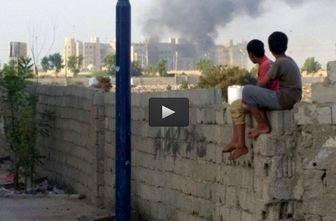 لحظه انفجار در هتل محل اقامت دولت مستعفی یمن / فیلم