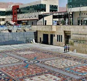 بزرگترین و زیباترین فرش سنگی جهان در تبریز