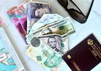 قیمت ارز مسافرتی در 19 اردیبهشت 98