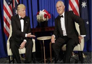 مسخره کردن ترامپ توسط نخست وزیر استرالیا