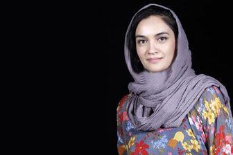 تیپ سبزرنگ میترا حجار در جشنواره فیلم فجر /عکس