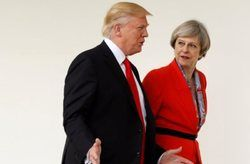 هدایای ترزا می به ترامپ و همسرش