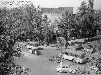 چهار راه ولیعصر تهران، 60 سال قبل!/ عکس