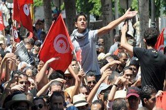 تظاهرات مردم تونس در حمایت از فلسطین