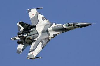 جنگنده پیشرفته روسی بر فراز سوریه