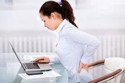 علت ابتلا به کمر درد در کار اداری + درمان