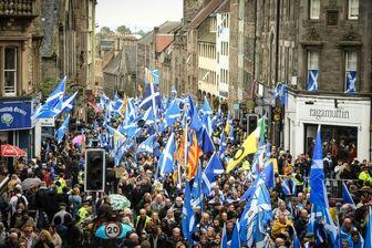 راهپیمایی استقلال طلبان اسکاتلند در ادینبرگ