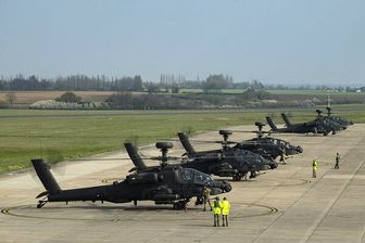 واکنش مسکو به استقرار بالگردهای انگلیسی در مرز روسیه