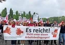 تظاهرات معلمان در هانوفر آلمان