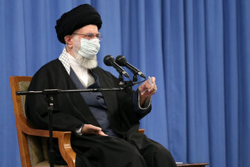 دیدار رهبر معظم انقلاب با رئیس و اعضای مجلس خبرگان/ گزارش تصویری