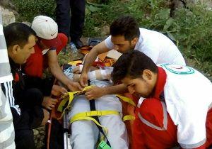 سقوط یک مرد 53 ساله از ارتفاعات طاق بستان