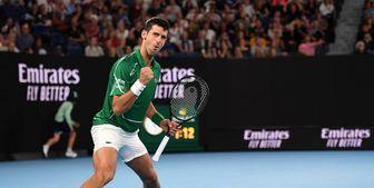 مرد شماره 2 تنیس جهان با برد استارت زد
