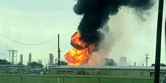 انفجار در تاسیسات گاز طبیعی در ایالت تگزاس آمریکا +فیلم
