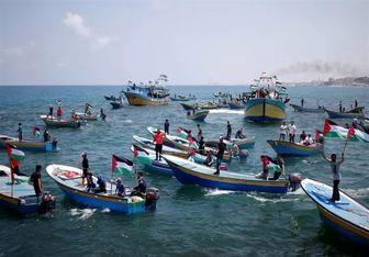 رژیم صهیونیستی کشتیهای عازم برای شکستن محاصره غزه را هدف قرار داد