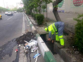 پاکسازی و لایروبی ۳۷ حوضچه اصلی از معابر قلب پایتخت