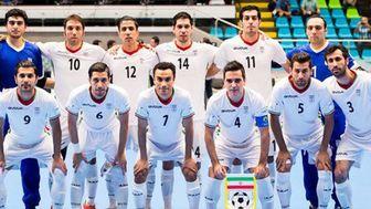 پیروزی تیم ملی فوتسال ایران مقابل روسیه
