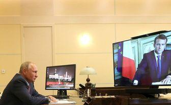 همکاری پوتین و مکرون برای رفع مشکلات جهان
