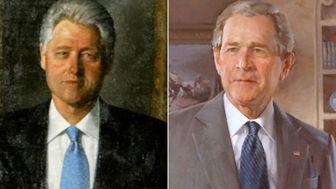 انتقال تصاویر بوش و کلینتون به انباری کاخ سفید