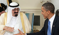 ملک عبدالله خطاب به اوباما: فشار را بر ایران بیشتر کنید