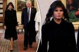 چرا ملانیا ترامپ در دیدار با پاپ لباس عزا به تن کرده بود؟/ عکس
