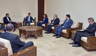 جابری انصاری با بشار اسد دیدار کرد