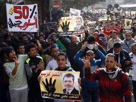 ادامه تظاهرات حامیان محمد مرسی