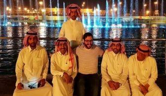 تصویری جنجالی از یک صهیونیست در مرکز عربستان!