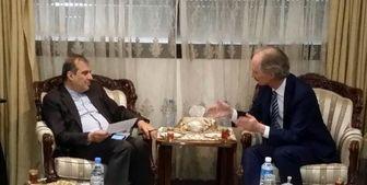 دیدار نماینده گوترش در امور سوریه با خاجی در بیروت