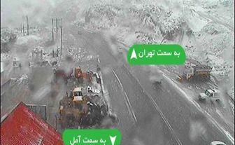 بارش برف در جاده های چالوس و هراز