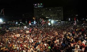 """نیروهای امنیتی مصر مانع از ورود حامیان اخوان به میدان """" رابعه العدویه """" شدند"""