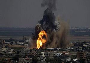 حمله موشکی اسرائیل به جنوب غزه