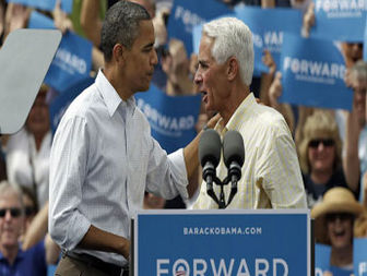 Obama and Charlie Crist hug again