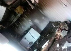آتش سوزی در کانکس زلزله زدگان سرپل ذهاب