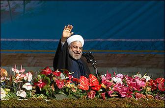 روحانی به جمع راهپیمانان تهرانی پیوست