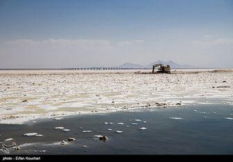 عکس هوایی از دریاچه ارومیه پس از بارش های اخیر